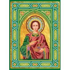 """Схема для вишивання бісером на натуральному художньому холсті """"Ікона """"Святий Пантелеймон"""""""