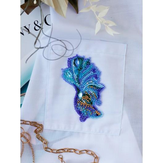 """Набір для вишивання бісером прикраси на натуральному художньому холсті Паттернхолст """"Синє золото-А"""""""