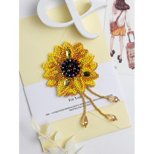 """Набір для вишивання бісером прикраси на натуральному художньому холсті """"Маленьке сонце"""""""