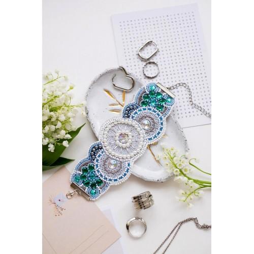 """Набір для вишивання бісером прикраса-браслет на натуральному художньому холсті """"Арабеск"""""""