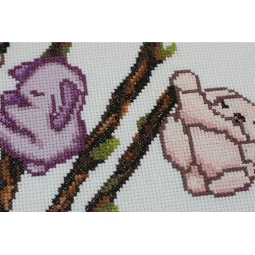 """Набір для вишивання хрестиком """"Березневі зайчата"""""""