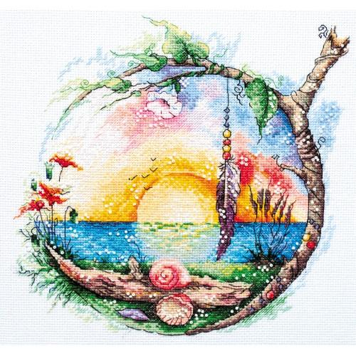 """Набір для вишивання хрестиком """"Сонячний рай"""""""