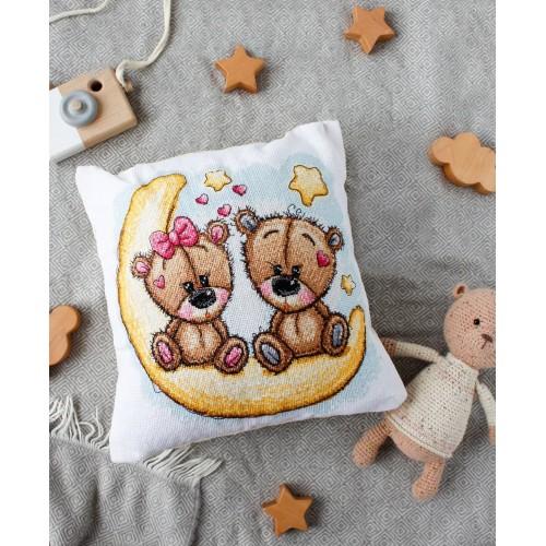 """Набір-подушка для вишивання хрестиком """"Добрих снів"""""""