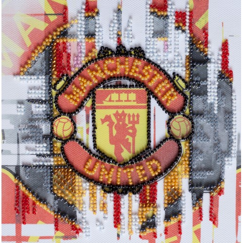 """Набір-міні для вишивання на натуральному художньому холсті """"ФК """"Манчестер Юнайтед"""""""