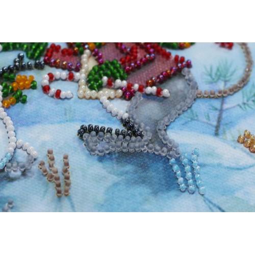 """Набір-міні для вишивання на натуральному художньому холсті """"Сніжний друг"""""""