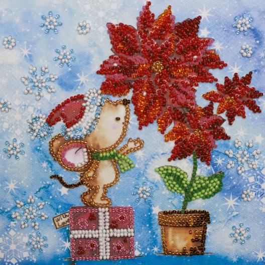 """Набір-міні для вишивання на натуральному художньому холсті """"Зимове диво"""""""
