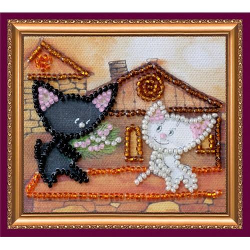 """Набір для вишивання бісером """"Магніт"""" Коти на даху"""