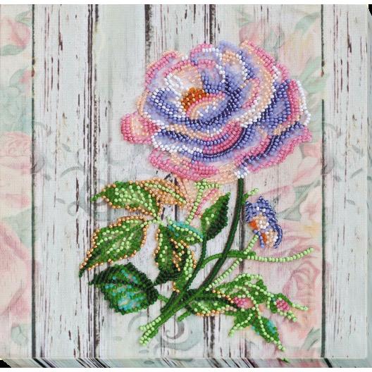 """Набір-міді для вишивання бісером на натуральному художньому холсті """"Чайна троянда"""""""