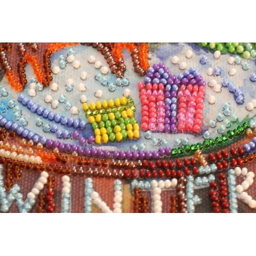 """Набір-міді для вишивання бісером на натуральному художньому холсті """"Щаслива зима"""""""
