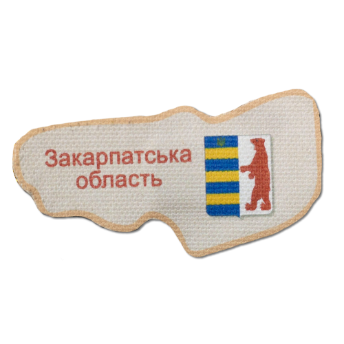 """Набір для вишивання бісером """"Магніт """"Мапа України"""" Закарпатська область"""