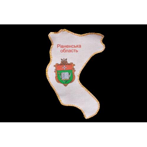 """Набір для вишивання бісером """"Магніт """"Мапа України"""" Рівненська область"""