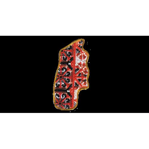 """Набір для вишивання бісером """"Магніт """"Мапа України"""" Хмельницкая область"""